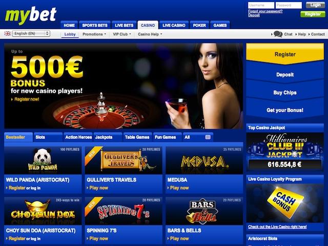 Mybet Casino Lobby