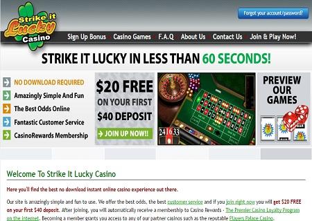 strike it lucky casino lobby