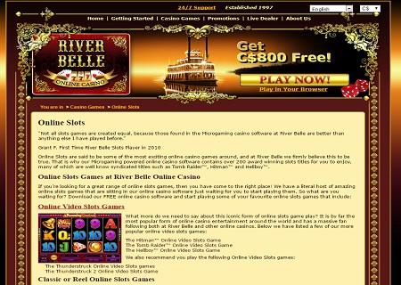 river belle casino lobby games