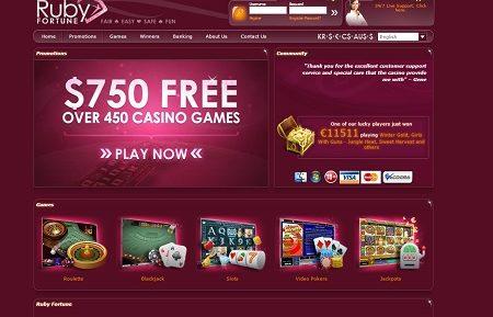 ruby fortune casino lobby