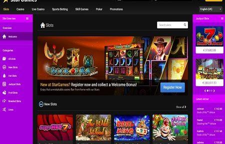stargames casino game lobby