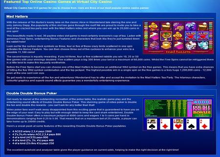 virtual city casino game lobby