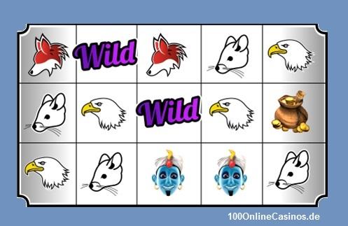 Beispiel für Wild-Symbole Video Slots