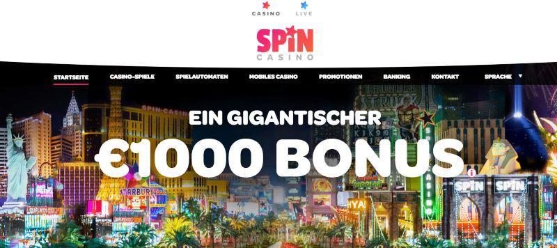 Spin Online Casino Bildschirmfoto